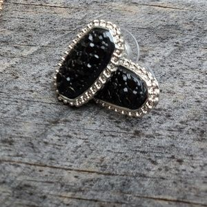 Silver and Black Studs